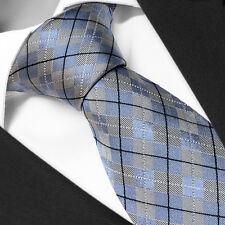 CRAVATE Luxe de Marque en SOIE Ecossais Bleu - Tie Necktie Blue Tartan Cravatte