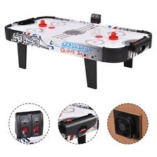 """42""""Air Powered Hockey Table Game Room Indoor Sport Electronic Scoring 2 Pushers"""