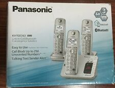 Panasonic KX-TGE263S Bluetooth Enabled Phone w/Answering Machine,3hand(READ NOTE