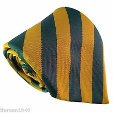 Newton Heath Red Devil Man Utd Green + Gold Mens Tie
