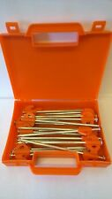 Heavy Duty Hard Ground Pro Tent & Awning Peg Rock Pegs Free Case Orange