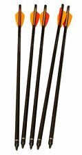 "5 X HEAVY DUTY ALLOY 22"" CROSSBOW BOLTS Archery Arrow xbow darts aluminium black"