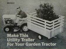 Utility Trailer for Lawn or Garden Tractor How-To build PLANS
