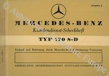1953 MERCEDES BENZ 170S-D W136 SERVICEHEFT SCHECKHEFT MAINTENANCE MANUAL DEUTSCH