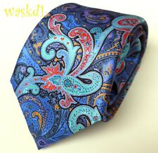 ERMENEGILDO ZEGNA Limited Edition QUINDICI midnight PAISLEY silk Tie NWT Authent
