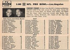 1966 TV FOOTBALL AD~ROOKIE OF THE YEAR GAYLE SAYERS & JIM BROWN~NFL PRO BOWL