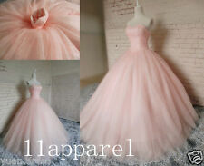 Pink Ball Gown Quinceanera Dress Beading Party Pageant Formal Gown Wedding NEW