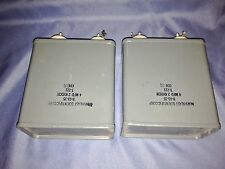 Pair of Vintage Northeast Scientific Corp. Can Capacitors - T221, 4 MFD 2 KVDCW