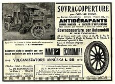PUBBLICITA' SOVRACOPERTURE GOMME PIENE ANTIDERAPANTS SPAZZATRICE HUMBERT 1915