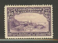 Canada #101, 1908 10c Quebec in 1700 - Quebec Tercentenary Issue, Unused Hinged
