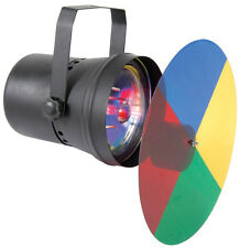 QTX PAR36 SPOT LIGHT WITH LAMP & COLOUR WHEEL 2.5RPM MOTOR DJ DISCO MIRRORBALL