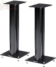 Norstone STYLUM 2 Speakers Stands Black Powder Coated, With Spikes 600mm Tall