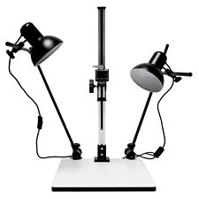 "28"" Inch High Copy Macro Stand 15.57""x 19""inch Base,Quick Release Mount + Lights"