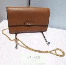 LAUREN by Ralph Lauren Tate Leather Mini Chain Crossbody Polo Tan/Cocoa $148.00