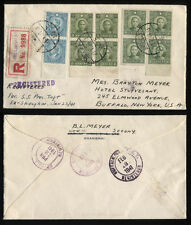 1941 Shanghai China Censored Cover Jewish Ghetto USA B L Meyer SS President Taft