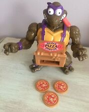 Teenage Mutant Ninja Turtles Pizza Tossin Don + 3 Pizzas TMNT Lot Tossing