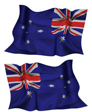 AUSTRALIA FLAG DECAL left and right facing AUSSIE SIZE 150MMMM BY 95MM GLOSS