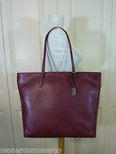 NWT FURLA Burgundy/Vino Saffiano Leather D-light Shopper Tote Bag $298