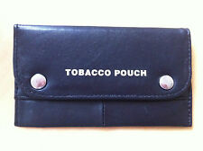 BLACK LEATHER TOBACCO POUCH WITH PLASTIC LINING - BRAND NEW IN PACKAGING