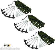 30 x Heavy Duty Pesca della Carpa Bivvy picchetti Campeggio Tenda Pegs Ombrello Rifugio esegue il pegging