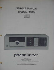 PHASE LINEAR PL P9500 CD PLAYER SERVICE MANUAL 34 Pages
