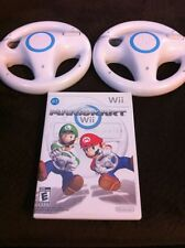 Mario Kart Wii  (Nintendo Wii, 2008) Game Bundle With 2 Steering Wheels