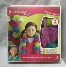 NIB American Girl Crafts Pom-Pom Scarves Kit Makes 2 One For You One For Doll