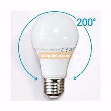 10 x lampadina led e27 10=60 watt luce calda 2700 k risparmio v-tac spot tv