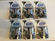 Star Wars Clone Trooper Lot - 4 dirty, 1 clean, 1 Clone Pilot Odd Ball Figures