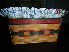 Longaberger 1996 Father's Day Address Basket Set with Mothers Liner & Protector