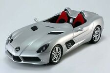 MINICHAMPS MERCEDES SLR STIRLING MOSS ROADSTER SILVER DEALER 1:18 Rare Find!