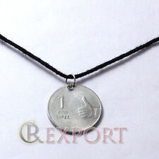 """Indian Currency Coin with """"THUMB FOR A GOOD LUCK"""" with Pendant Lucky Charm"""