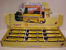 Pack of 12 School Bus Long Nose Die-cast 1:50 Kinsfun 5 inch Yellow