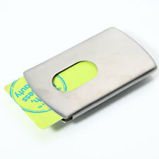 Stylish Business Wallet Metal Stainless Steel Name Credit ID Card Holder Case