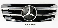 Mercedes CLK Class W208 98-03 3 Fin Front Hood Gloss Black Chrome Grill Grille