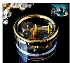 Gorgerous Circle in Gold Wind Up Music Box : Prologue Harry Potter HedwigsTheme