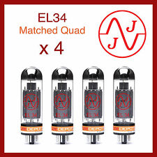 JJ Electronics EL34 Power Vacuum Tube Matched Quad - 4 Pieces