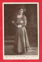EDWARDIAN  POSTCARD  -  ACTRESS  -  MISS  PHYLLIS  DARE  -  1906