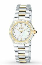 New Ladies Citizen EW0894-57D Two-Tone Stainless Steel MOP Dial Diamond Watch