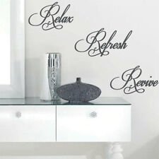 Relax Refresh Revive Wall Quote Art Stickers Wall Decals 12