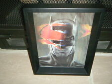 """BATMAN VS SUPERMAN MOVIE BEN AFFLECK HEAD SHOT 3D Shadow Box  9"""" X 11"""" COOL FIND"""