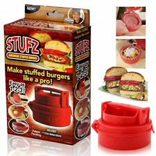 UK STUFZ STUFFED Burger Stampa HAMBURGER GRILL BBQ PATTY MAKER Juicy AS Seen ontv