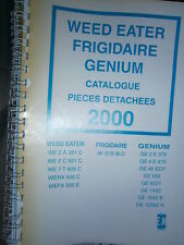 WEED EATER - FRIGIDAIRE - GENIUM tracteur tondeuse : catalogue pièces 2000