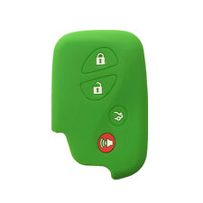 Green 4 Buttons Silicone Key Fob Skin cover Key Jacket Remote Case fit for Lexus