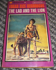 Edgar Rice Burroughs THE LAD AND THE LION Ballantine Print. 1964