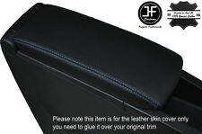 BLUE STITCH ARMREST LID LEATHER COVER FITS RENAULT SCENIC GRAND SCENIC 09-15