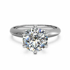 Ebay 14kt White Gold Rings Diamond Wedding Engagement Ring 2.00Ct Diamond Rings
