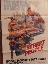 "1976 ""Street People"" Movie Poster 27x41"" Roger Moore, Stacy Keach"