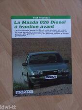 Mazda 626 Diesel Prospekt / Brochure / Depliant, B (F), 12.1983