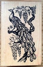 Peacock PSX Wood Mounted Rubber Stamp G-717